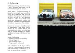 Car Servicing copywriting